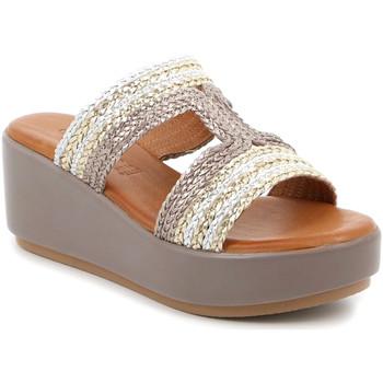 Schoenen Dames Leren slippers Grunland CI2853 Beige