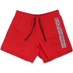 Textiel Heren Zwembroeken/ Zwemshorts Ea7 Emporio Armani 902000 0P732 Rood