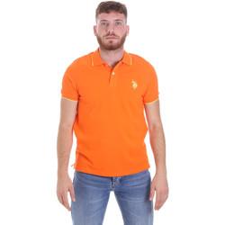 Textiel Heren Polo's korte mouwen U.S Polo Assn. 58561 41029 Oranje