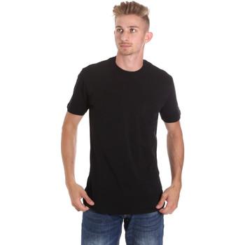 Textiel Heren T-shirts korte mouwen Les Copains 9U9010 Zwart