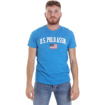 Textiel Heren T-shirts korte mouwen U.S Polo Assn. 57117 49351 Blauw
