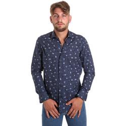 Textiel Heren Overhemden lange mouwen Betwoin D092 6635535 Blauw