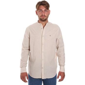 Textiel Heren Overhemden lange mouwen Les Copains 9U2722 Beige