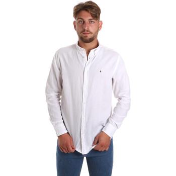 Textiel Heren Overhemden lange mouwen Les Copains 9U2371 Wit
