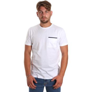 Textiel Heren T-shirts korte mouwen Antony Morato MMKS01798 FA100212 Wit