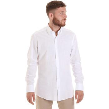 Textiel Heren Overhemden lange mouwen Les Copains 20P.689 P700SL Wit