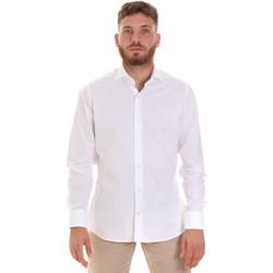 Textiel Heren Overhemden lange mouwen Les Copains 000.076 P3196 Wit