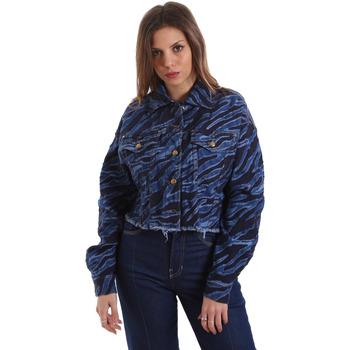 Textiel Dames Spijker jassen Versace C0HVB939AQC5Q904 Blauw