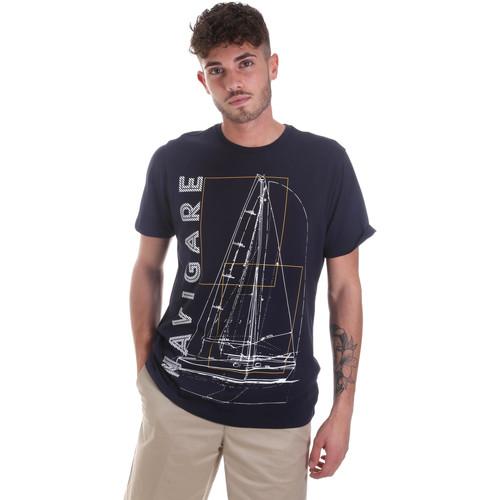Textiel Heren T-shirts korte mouwen Navigare NV31109 Blauw