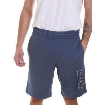 Textiel Heren Korte broeken / Bermuda's Ea7 Emporio Armani 3HPS73 PJ05Z Blauw