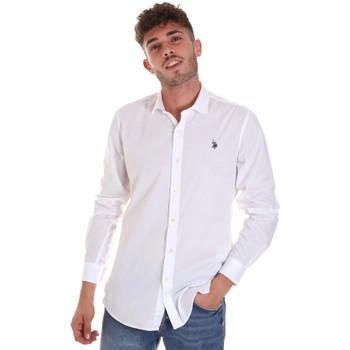 Textiel Heren Overhemden lange mouwen U.S Polo Assn. 58835 50655 Wit