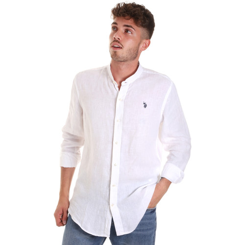 Textiel Heren Overhemden lange mouwen U.S Polo Assn. 58667 50816 Wit