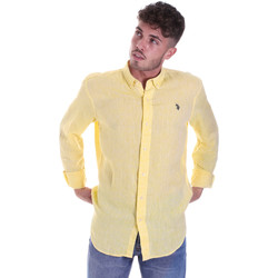 Textiel Heren Overhemden lange mouwen U.S Polo Assn. 58574 50816 Geel