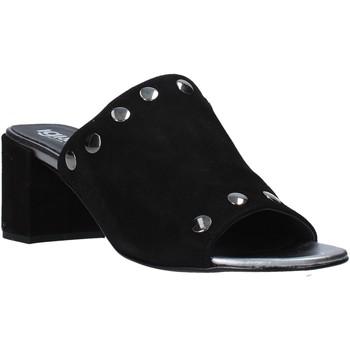 Schoenen Dames Leren slippers IgI&CO 5190600 Zwart