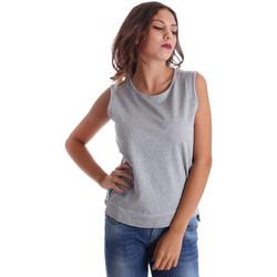 Textiel Dames Mouwloze tops Fornarina BE17T524F42990 Grijs