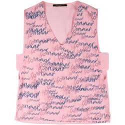 Textiel Dames Mouwloze tops Fornarina BERT486C97366 Roze