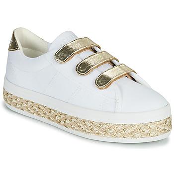 Schoenen Dames Lage sneakers No Name MALIBU STRAPS Wit / Goud