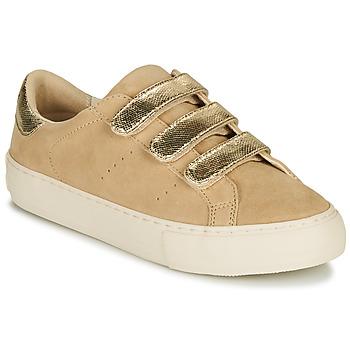 Schoenen Dames Lage sneakers No Name ARCADE STRAPS Beige / Goud