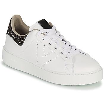Schoenen Dames Lage sneakers Victoria UTOPIA GLITTER Wit / Bruin