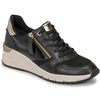 Schoenen Dames Lage sneakers Tamaris REA Zwart / Goud