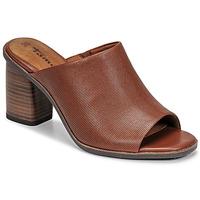 Schoenen Dames Leren slippers Tamaris NOAMY Bruin