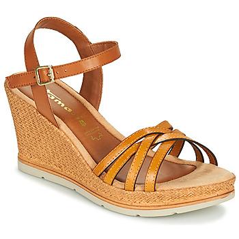 Schoenen Dames Sandalen / Open schoenen Tamaris SLOB Cognac