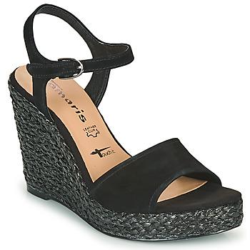 Schoenen Dames Sandalen / Open schoenen Tamaris CYNARA Zwart