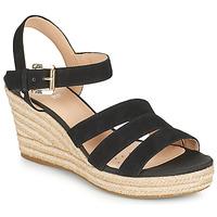 Schoenen Dames Sandalen / Open schoenen Geox D SOLEIL C Zwart