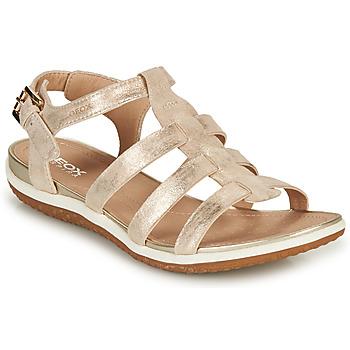 Schoenen Dames Sandalen / Open schoenen Geox D SANDAL VEGA A Goud