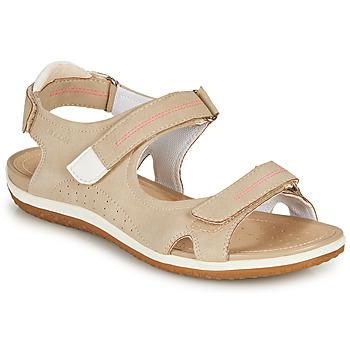 Schoenen Dames Sandalen / Open schoenen Geox D SANDAL VEGA A Beige