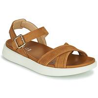 Schoenen Dames Sandalen / Open schoenen Geox D XAND 2S B Cognac