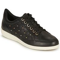 Schoenen Dames Lage sneakers Geox D MYRIA H Zwart