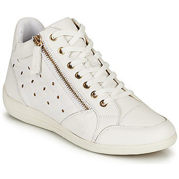 Schoenen Dames Hoge sneakers Geox D MYRIA G Wit