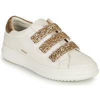 Schoenen Dames Lage sneakers Geox D PONTOISE C Wit / Goud