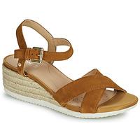 Schoenen Dames Sandalen / Open schoenen Geox D ISCHIA CORDA C Camel