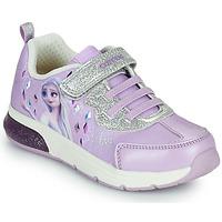 Schoenen Meisjes Lage sneakers Geox SPACECLUB GIRL Violet
