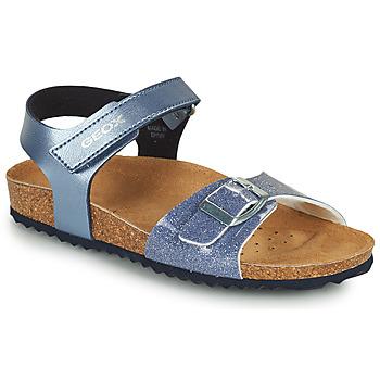 Schoenen Meisjes Sandalen / Open schoenen Geox ADRIEL GIRL Blauw
