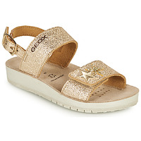 Schoenen Meisjes Sandalen / Open schoenen Geox SANDAL COSTAREI GI Goud