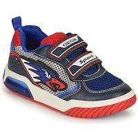 Schoenen Jongens Lage sneakers Geox INEK BOY Blauw / Rood