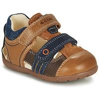 Schoenen Jongens Sandalen / Open schoenen Geox KAYTAN Bruin / Marine