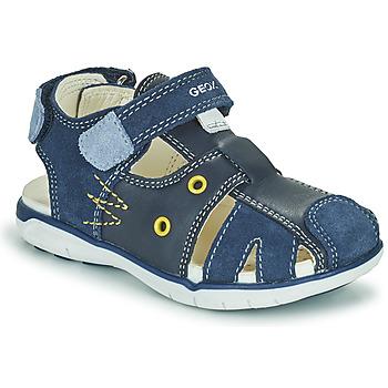 Schoenen Jongens Sandalen / Open schoenen Geox SANDAL DELHI BOY Marine