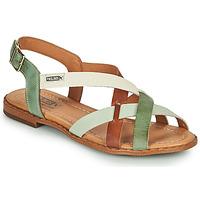 Schoenen Dames Sandalen / Open schoenen Pikolinos ALGAR W0X Bruin / Groen