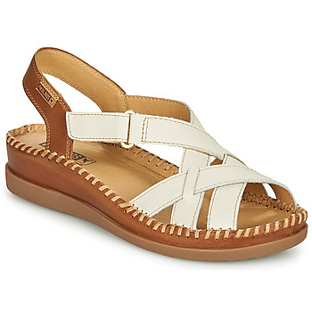 Schoenen Dames Sandalen / Open schoenen Pikolinos CADAQUES W8K Wit / Bruin