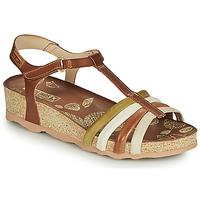Schoenen Dames Sandalen / Open schoenen Pikolinos MAHON W9E Bruin / Wit
