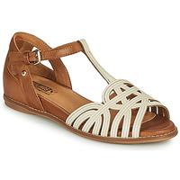 Schoenen Dames Sandalen / Open schoenen Pikolinos TALAVERA W3D Wit / Bruin