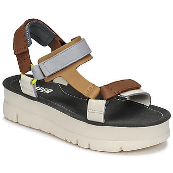 Schoenen Dames Sandalen / Open schoenen Camper ORUGA UP Bruin / Grijs