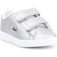 Schoenen Kinderen Lage sneakers Lacoste Carnaby EVO 317 6 SPI 7-34SPI0006334 silver