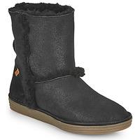 Schoenen Dames Hoge laarzen El Naturalista LUX Zwart