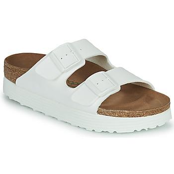 Schoenen Dames Leren slippers Papillio ARIZONA GROOVED Wit