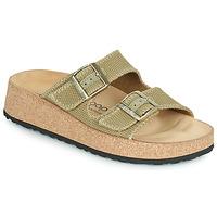 Schoenen Dames Leren slippers Papillio GABRIELA Kaki